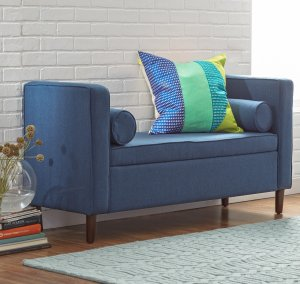 $137Rimo Upholstered Storage Bench by Mercury Row