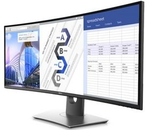 $619.99(原价714.99) 免税包邮新款史低价:Dell 34 UltraSharp U3417W 高端曲面显示器