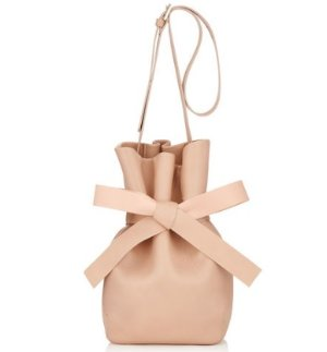 $648Jimmy Choo Ballet Pink Nappa Leather Bucket Bag