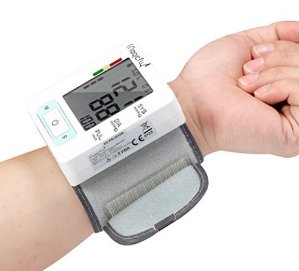 $14 Magicfly Wrist Blood Pressure Monitor with Case, FDA Approved, Heart Zone Guidance and Irregular Heartbeat Detector