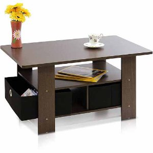 $26 Petite Coffee Table with Foldable Bin Drawer