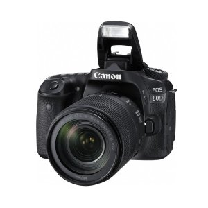 $749(原价$1549)Canon EOS 80D 单反相机镜头套装再送专业打印机/相纸