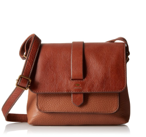 $102.4(reg.$128)Fossil Kinley Small BRWN Cross-Body Bag,Brown