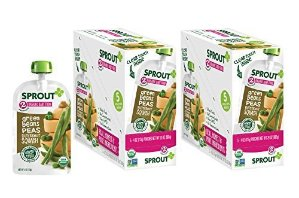 $9Sprout Stage 2 Organic Baby Food Pouches, Green Beans Peas Butternut Squash, Pack of 10