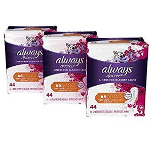 $10.55Always Discreet, Incontinence Liners, Very Light, Long Length, 132 Count