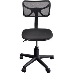 $29Urban Shop 黑色中背旋转办公椅(黑色)