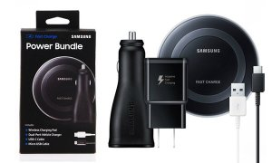 $39Samsung Fast-Charging Power Bundle: Dual Charger, Charge Pad, Cables