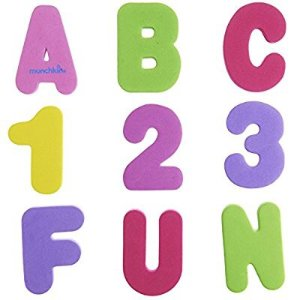 $4Munchkin 36 Bath Letters and Numbers, Pastel