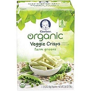 $6.57Gerber Graduates Organic Veggie Crisps, Green, 5 Count (Pack of 2)