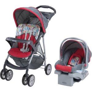 $79.99史低价:Graco LiteRider 婴儿安全手推车+车载安全座椅