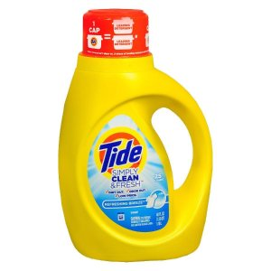 $1.99Tide Simply Clean & Fresh 洗衣液 40盎司