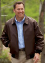 $28Scandia Woods Men's Leather Bomber (Large only)