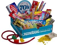 $24Hometown Favorites Decade-Themed Candy Boxes