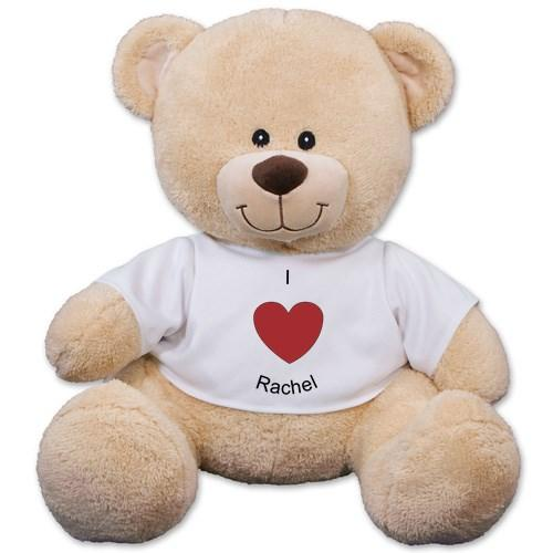 $9Personalized I Heart You Teddy Bear - 11
