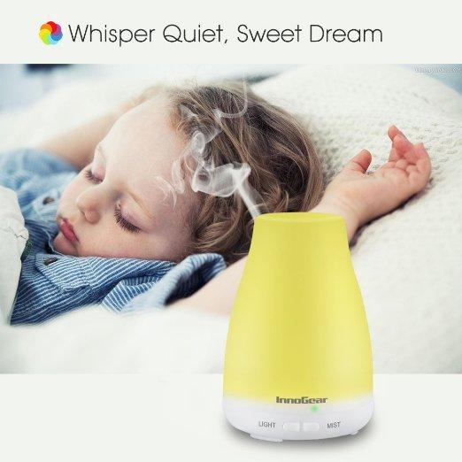 $14.95 InnoGear® 100ml Aromatherapy Essential Oil Diffuser Portable Ultrasonic Cool Mist Aroma Humidifier