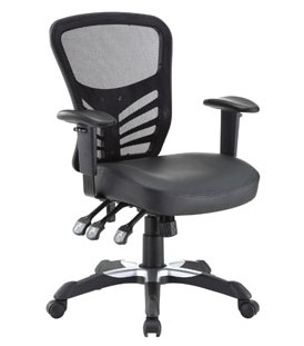 $99Articulate Mesh Office Chair with Fully Adjustable Black Vinyl Seat