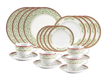 $143Mikasa Holiday Traditions 20 Piece Dinnerware Set with Bread and Butter Plate