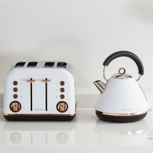 低至$127.2起 高颜值厨房小电器Morphy Richards 烧水壶 + 4片烤面包机 套装特卖 多色可选
