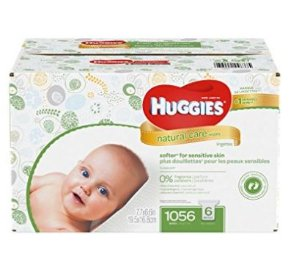 $19.97(原价$30.99)Huggies Natural Care 温和配方无香型婴儿湿巾 1056张