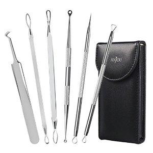 $6.99Anjou 黑头粉刺针祛除 6件套 送带镜子的收纳袋
