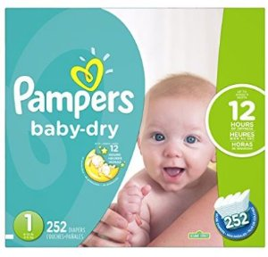 每片低至仅$0.08! $32.42(原价$40.5)Pampers Baby-Dry 纸尿裤 1- 6号 (128 - 252片)