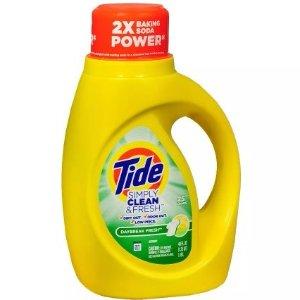 $1.99Tide Simple Clean& Fresh Detergent 40oz @ Walgreens