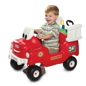 $49Little Tikes Spray & Rescue Fire Truck Foot to Floor Ride On