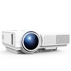 $34 TENKER Q5 Mini Projector 1500 Lumens LED Portable Movie Projector