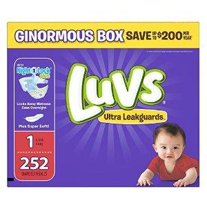 $18.98包邮Luvs 超级防漏婴儿尿布,低至每片$0.07