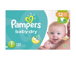 CDN$19Pampers Baby Dry 1号纸尿裤,120片