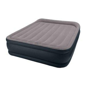 $39Intex Deluxe Raised Pillow Rest Air Mattress with Built-In Pump, Queen