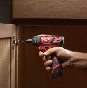 $99Milwaukee M12 12-Volt Lithium-Ion 1/4 in. Hex Cordless Screwdriver Kit W/ Free M12 XC Battery Pack 3.0Ah