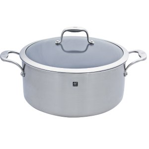 $69ZWILLING J.A. Henckels Sol 3-ply 8-qt Stainless Steel Thermolon Nonstick Stock Pot
