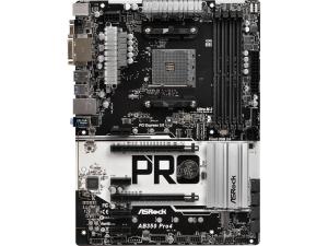 $54ASRock AB350 Pro4 AM4 AMD Promontory B350 ATX Motherboard