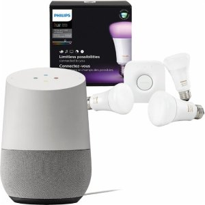 $178 Google Home and Philips Hue Color Starter Kit Package