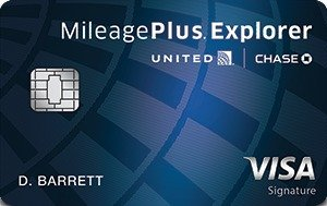 40,000 bonus miles, $0 introductory annual fee for the first year United MileagePlus® Explorer Card