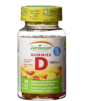 补钙少不了 $6.49(原价$12.81)Jamieson Vitamin D 成人水果味软糖60粒