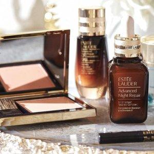 8.5折+最高送10件好礼Estee Lauder 美妆护肤品促销 入双棕瓶套装