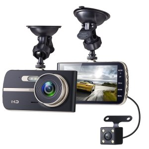 $56Sebikam Full HD Car Dash Cam, 1080p Front Rear 290 Degree Super Wide Dashboard Camera