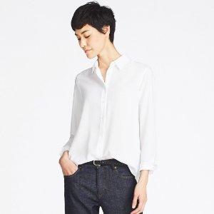 7.5折  不起皱的百搭衫UNIQLO 女款免熨烫衬衫 (7色可选)