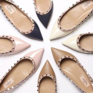 低至4折Valentino 精选铆钉包包、美鞋、美衣等促销