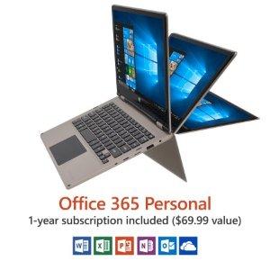 $139.00Direkt-Tek 11.6吋 全高清变形触屏本 Intel Atom X5处理器