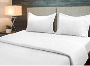 $22.99(原价$61.04)Utopia Bedding 床上三件套 Queen尺寸白色