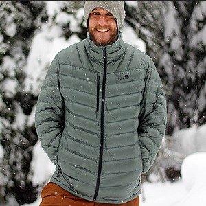 $99.98包邮Mountain Hardwear StretchDown™ 男士超保暖羽绒服限时特价