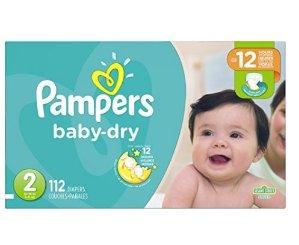 $25.09(原价$32.99)Pampers Baby-Dry 纸尿裤 N- 5号, 104 - 78片