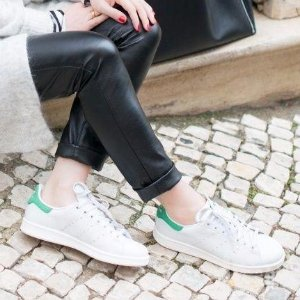 $29.99 adidas Originals Men's Stan Smith Leather White/Green Athletic Sneakers