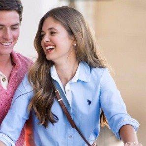 $12U.S Polo Association Women's 100% Cotton Solid Pocket Oxford