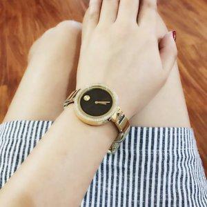 $379 (原价$1495)史低价:MOVADO 摩凡陀 Bold 系列镶钻镀金时装女表