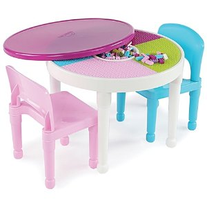 As Low As $43.99 + Free ShippingTot Tutors 3-Piece 2-in-1 Activity Table Set in Neon