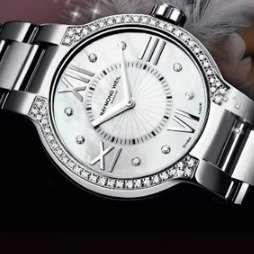 $499RAYMOND WEIL Noemia Mother of Pearl Diamond-Studded Dial Ladies Watch